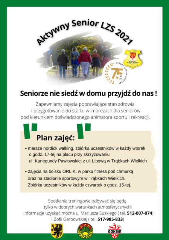 Plakat Aktywny Senior 2021